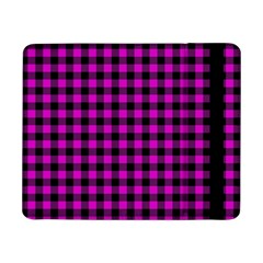 Lumberjack Fabric Pattern Pink Black Samsung Galaxy Tab Pro 8 4  Flip Case by EDDArt