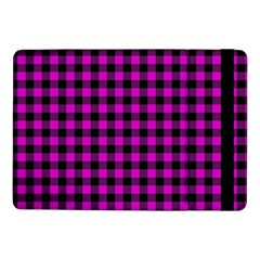 Lumberjack Fabric Pattern Pink Black Samsung Galaxy Tab Pro 10 1  Flip Case by EDDArt