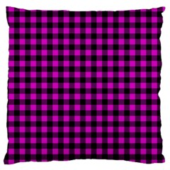 Lumberjack Fabric Pattern Pink Black Standard Flano Cushion Case (two Sides) by EDDArt