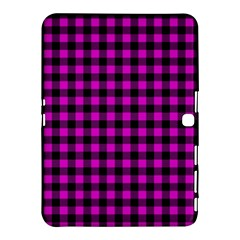 Lumberjack Fabric Pattern Pink Black Samsung Galaxy Tab 4 (10 1 ) Hardshell Case  by EDDArt