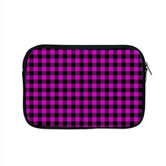 Lumberjack Fabric Pattern Pink Black Apple Macbook Pro 15  Zipper Case by EDDArt