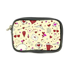 Valentinstag Love Hearts Pattern Red Yellow Coin Purse by EDDArt