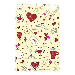 Valentinstag Love Hearts Pattern Red Yellow Shower Curtain 48  X 72  (small)  by EDDArt