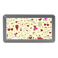 Valentinstag Love Hearts Pattern Red Yellow Memory Card Reader (mini) by EDDArt