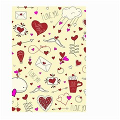 Valentinstag Love Hearts Pattern Red Yellow Large Garden Flag (two Sides)