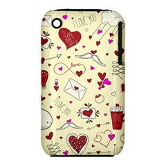 Valentinstag Love Hearts Pattern Red Yellow Iphone 3s/3gs by EDDArt