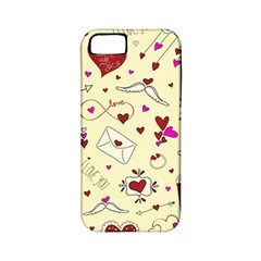 Valentinstag Love Hearts Pattern Red Yellow Apple Iphone 5 Classic Hardshell Case (pc+silicone)