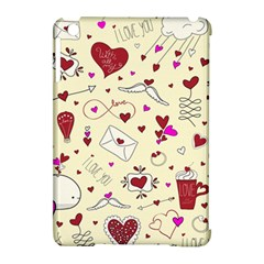 Valentinstag Love Hearts Pattern Red Yellow Apple Ipad Mini Hardshell Case (compatible With Smart Cover)