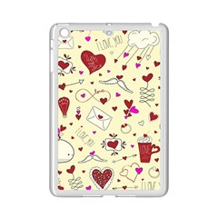 Valentinstag Love Hearts Pattern Red Yellow Ipad Mini 2 Enamel Coated Cases