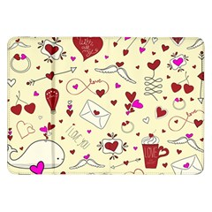 Valentinstag Love Hearts Pattern Red Yellow Samsung Galaxy Tab 8 9  P7300 Flip Case by EDDArt