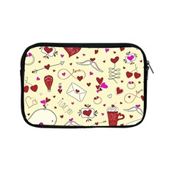 Valentinstag Love Hearts Pattern Red Yellow Apple Ipad Mini Zipper Cases by EDDArt