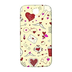 Valentinstag Love Hearts Pattern Red Yellow Samsung Galaxy S4 I9500/i9505  Hardshell Back Case by EDDArt
