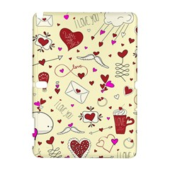 Valentinstag Love Hearts Pattern Red Yellow Galaxy Note 1 by EDDArt