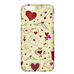 Valentinstag Love Hearts Pattern Red Yellow Apple Iphone 6 Plus/6s Plus Hardshell Case by EDDArt