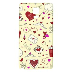 Valentinstag Love Hearts Pattern Red Yellow Galaxy Note 4 Back Case by EDDArt