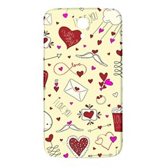 Valentinstag Love Hearts Pattern Red Yellow Samsung Galaxy Mega I9200 Hardshell Back Case by EDDArt