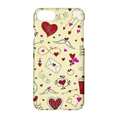 Valentinstag Love Hearts Pattern Red Yellow Apple Iphone 7 Hardshell Case by EDDArt