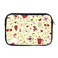 Valentinstag Love Hearts Pattern Red Yellow Apple Macbook Pro 17  Zipper Case by EDDArt