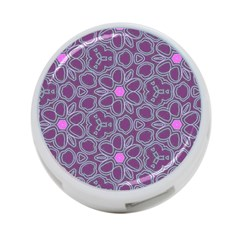 Floral Pattern 4 Port Usb Hub (two Sides)