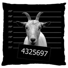 Criminal Goat  Large Flano Cushion Case (one Side) by Valentinaart