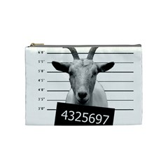 Criminal Goat  Cosmetic Bag (medium)  by Valentinaart