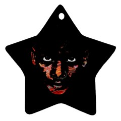 Wild Child  Star Ornament (two Sides) by Valentinaart