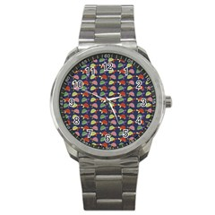 Turtle Pattern Sport Metal Watch by Valentinaart