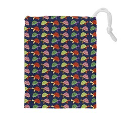 Turtle Pattern Drawstring Pouches (extra Large) by Valentinaart