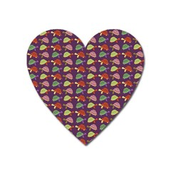 Turtle Pattern Heart Magnet by Valentinaart