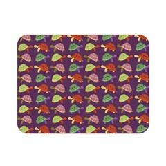 Turtle Pattern Double Sided Flano Blanket (mini)