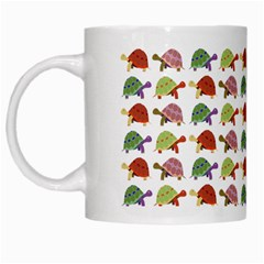 Turtle Pattern White Mugs by Valentinaart