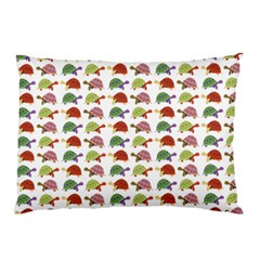Turtle Pattern Pillow Case by Valentinaart