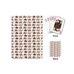 Turtle Pattern Playing Cards (mini)  by Valentinaart