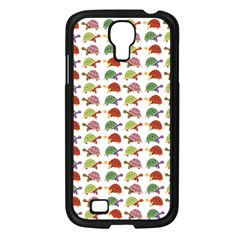 Turtle Pattern Samsung Galaxy S4 I9500/ I9505 Case (black) by Valentinaart
