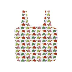 Turtle Pattern Full Print Recycle Bags (s)  by Valentinaart