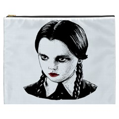 Wednesday Addams Cosmetic Bag (xxxl)  by Valentinaart