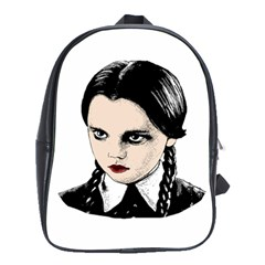 Wednesday Addams School Bags(large)  by Valentinaart
