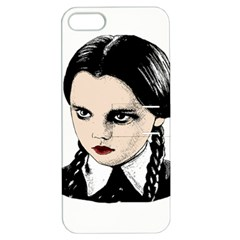 Wednesday Addams Apple Iphone 5 Hardshell Case With Stand by Valentinaart