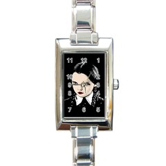Wednesday Addams Rectangle Italian Charm Watch by Valentinaart