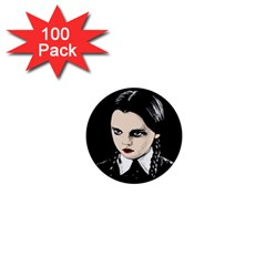 Wednesday Addams 1  Mini Buttons (100 Pack)  by Valentinaart
