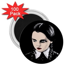 Wednesday Addams 2 25  Magnets (100 Pack)  by Valentinaart