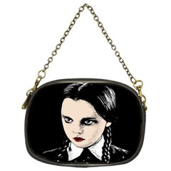 Wednesday Addams Chain Purses (two Sides)  by Valentinaart