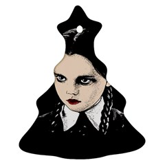 Wednesday Addams Christmas Tree Ornament (two Sides) by Valentinaart