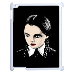 Wednesday Addams Apple Ipad 2 Case (white) by Valentinaart