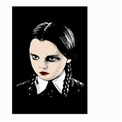 Wednesday Addams Large Garden Flag (two Sides) by Valentinaart