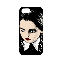 Wednesday Addams Apple Iphone 5 Classic Hardshell Case (pc+silicone) by Valentinaart