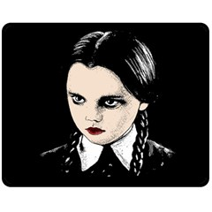 Wednesday Addams Double Sided Fleece Blanket (medium)