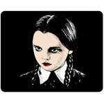 Wednesday Addams Double Sided Fleece Blanket (Medium)  58.8 x47.4  Blanket Back