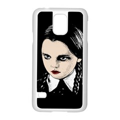 Wednesday Addams Samsung Galaxy S5 Case (white) by Valentinaart
