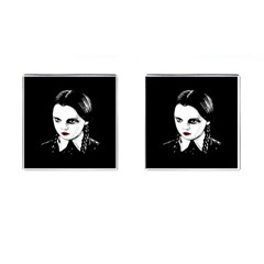 Wednesday Addams Cufflinks (square) by Valentinaart